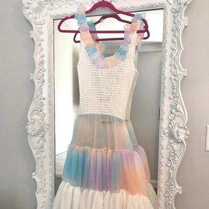 SHERBET PASTEL Mesh PARTY Dress